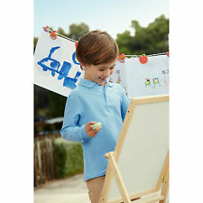 FRUIT OF THE LOOM ENFANTS MANCHES LONGUES POLYCOTON Polo piqué T-shirt