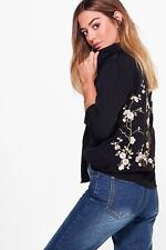 Boohoo Petite Evelyn Embroidered Back Shirt para Mujer