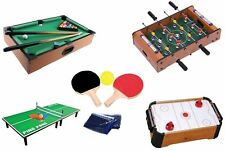 Wooden Mini Table Top Air Hocky Table Tennis Football Pool Family Games Toy Gift