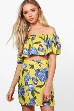 Boohoo Belle coordinato floreale con gonna e top con scollo a barca - multi