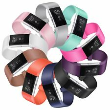 Silicone Replacement Strap for Fitbit Charge 2 Watch Bracelet Sport Band UK NEW