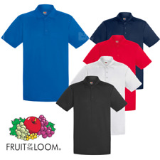 Fruit of the Loom Hombre Polo Deporte secado rápido transpirable Tenis Golf
