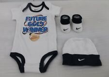 NIKE JORDAN 3 PIECE INFANTS BOY,S SET GREY sz...0-6 MONTHS BNIB