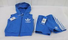 ADIDAS SLEEVELESS HOODED TOP AND SHORTS INFANT BOY,S BNWT