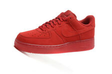 MENS NIKE AIR FORCE 1 '07 LV8 GYM RED LEATHER SUEDE TRAINERS 718152601