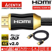 PREMIUM HDMI Cable v1.4a HD High Speed 4K 2160p 3D Lead 1m/2m/3m//5m/7.5m/10m
