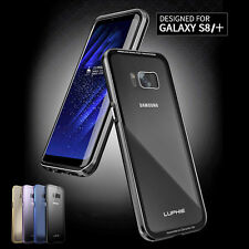 LUPHIE Aluminum Metal Bumper Case+1x Tempered Glass For Samsung Galaxy S8 Plus
