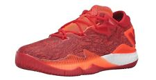 Mens Adidas Crazylight Boost Low 2016 Solar Red White Lace Up Basketball Shoes