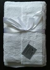 Three Pcs Towel Set  White Pure cotton Bath Towel , Hand Towel, Face Towel, Set