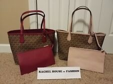 Michael Kors Lg Reversible Candy Tote W/ Matching Clutch NWT