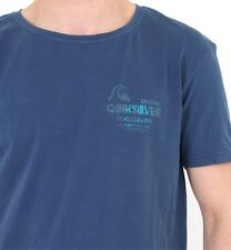 Gents Quiksilver Printed T-Shirt in Blue - Mens THE ONE T-Shirt KRMJE962 - NEW