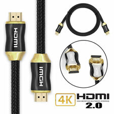 HDMI Cable 2.0 24K Gold 1M High Speed 2M HDTV UltraHD 3D PS4 XBOX 3M SKY FAST