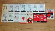 England  Wales Rugby League Programmes 1958 - 1995