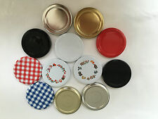 100 x 63mm Twist Off Jam Jar Lid in choice of colours