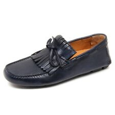 D4428 mocassino uomo blu ALTIERI MILANO loafer shoe man