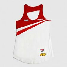 DUCATI CORSE LADIES T-SHIRT TANK TOP VALENTINO ROSSI D46 Team Moto GP Lady NEW