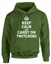 Keep Calm and Carry On Twitching Felpa con cappuccio BIRD WATCHING Birdwatcher