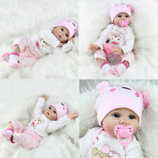 """Reborn Baby Dolls Real Life Vinyl Silicone Baby Girl Doll Kids Gift 16""""/22""""/11"""""""