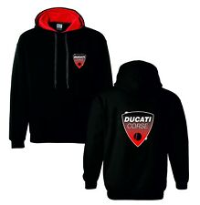 Ducati corse red motorbike motorcycle hoodie hooded top jacket all sizes