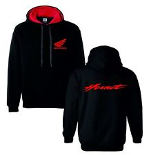 Honda hornet red motorbike motorcycle hoodie hooded top jacket all sizes
