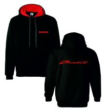 Suzuki bandit red motorbike motorcycle hoodie hooded top jacket all sizes