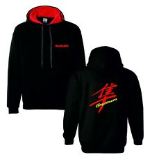 Suzuki hayabusa red motorbike motorcycle hoodie hooded top jacket all sizes
