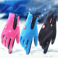 Women Men Motorcycling Touchscreen Winter Outdoor Riding Waterproof Gloves Io