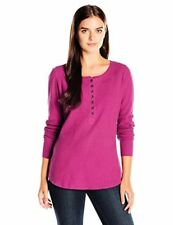 Life is good Women's Waffle Henley Vibes T-Shirt, Wild Plum - Choose SZ/Color