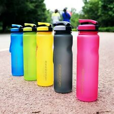 1000ml Portable Plastic Sports Water Bottle Bike Outdoor Cycling Drink Thermos
