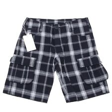 6057O bermuda quadri blu bimbo ARMANI JUNIOR trousers shorts kids
