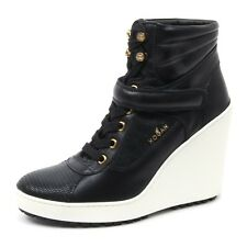 B4090 tronchetto donna HOGAN H249 scarpa stivaletto zeppa nero shoe boot woman