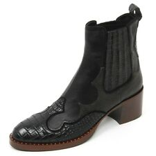 B9668 tronchetto basso donna CAR SHOE scarpa stivaletto nero shoe boot woman