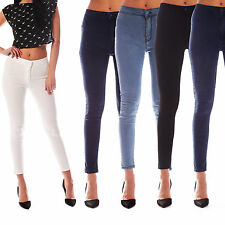 NEW WOMENS HIGH WAISTED STRETCHY SKINNY FIT JEANS LADIES JEGGINGS SIZES 6 - 18