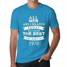 1970, Only the Best are Born in 1970 Hombre Camiseta Azul Regalo 00511