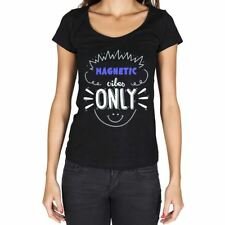 Magnetic, mujer camisetas, vibes only camiseta, camiseta regalo 00301