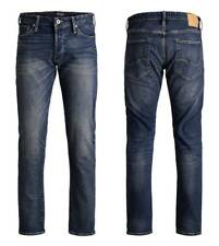 JACK & JONES MENS COMFORT FIT JEANS  DESIGNER BRANDED JEANS PANTS IN BLUE DENIM