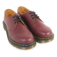 Dr Martens Unisex 1461 3-Eye Smooth Leather Lace-Up Shoe Cherry Red