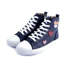 Scarpe shoes sneakers Love Moschino donna woman nere black pelle leather Liuj