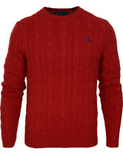 Ralph Lauren Polo Crew Neck Cable Knit Jumper/Sweater/Jersey  Long Sleeve