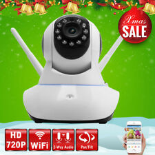 Night Vision Wireless Pan Tilt HD 720P IP WiFi Camera Security CCTV Network