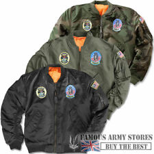 RAGAZZI/bambini MA1 US AIR FORCE AVIATOR BOMBER MILITARE BOMBER TOPPE