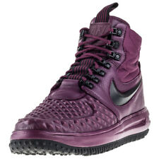 Mens Nike Lunar Force 1 Duckboot 17 Leather & Synthetic Red Shoes Boots Casual