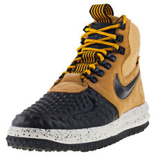 Mens Nike Lunar Force 1 Duckboot 17 Leather & Synthetic Black Shoes Boots