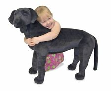 Melissa  Doug Giant Black Lab - Lifelike Stuffed Animal Dog (over 2 feet tall)