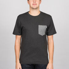 Carhartt 'Contrast Pocket' Tee. Black Heather/Dark Grey Heather.