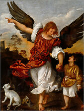 Cuadro sobre lienzo Tobias and the Angel - Tiziano Vecellio