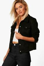Boohoo Anna Faux Suede Trucker Jacket para Mujer