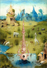 Póster Garden of Earthly Delights, the Paradise (detail) - Hieronymus Bosch
