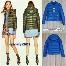 ZARA SHORT QUILTED FEATHER DOWN ULTRA LIGHTWEIGHT ANORAK JACKET SIZE XS S M L XL