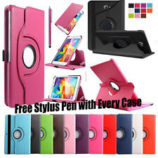 Smart 360 Rotating Leather Stand Case Cover For Samsung Galaxy Tab 4/ 3 / A / E